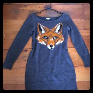 Dresses & Skirts - Fox Motif Sweater Dress